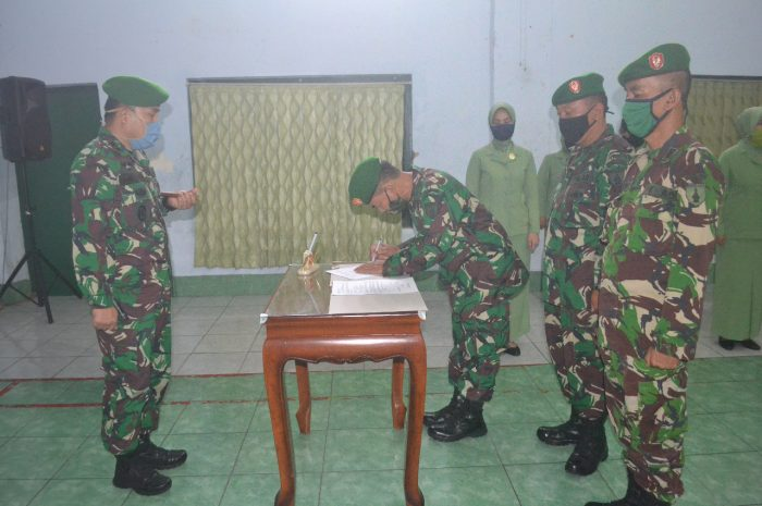 Dandim 0804/Magetan Pimpin Serah Terima Jabatan Perwira Staf Dan Danramil